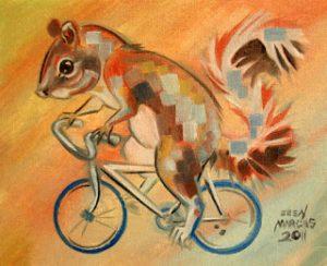 SquirrelOnaBike