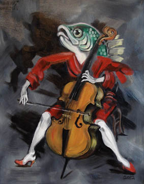 Fish Playing Cello