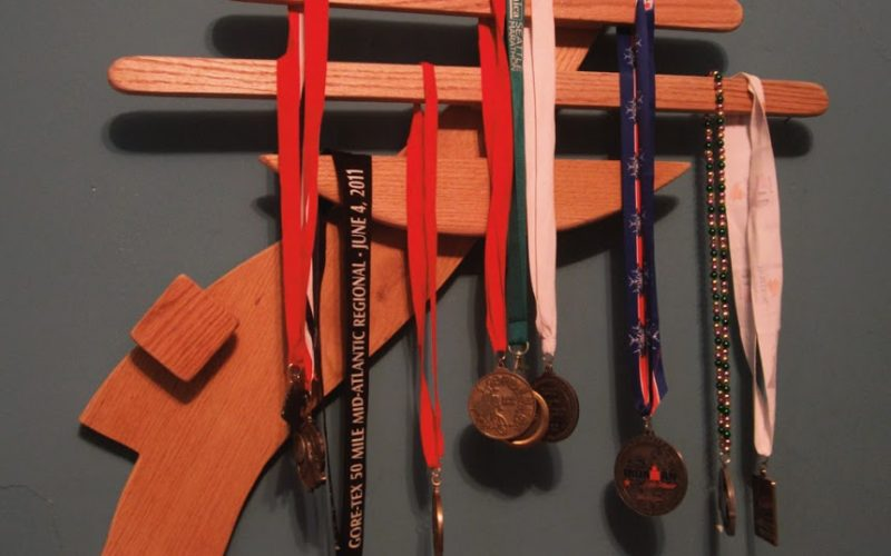 Race Medal Rack