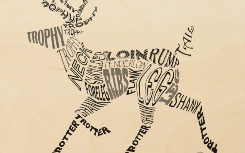 Deer Calligram